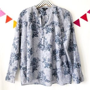 {Lucky Brand} Floral Print Blouse